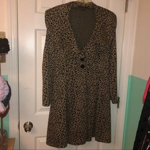 Cheetah print jacket
